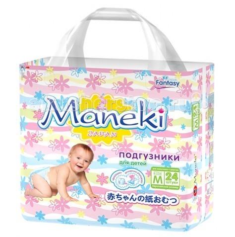 Подгузники Maneki Подгузники Fantasy M (6-11 кг) 24 шт. maneki mini m 6 11 22