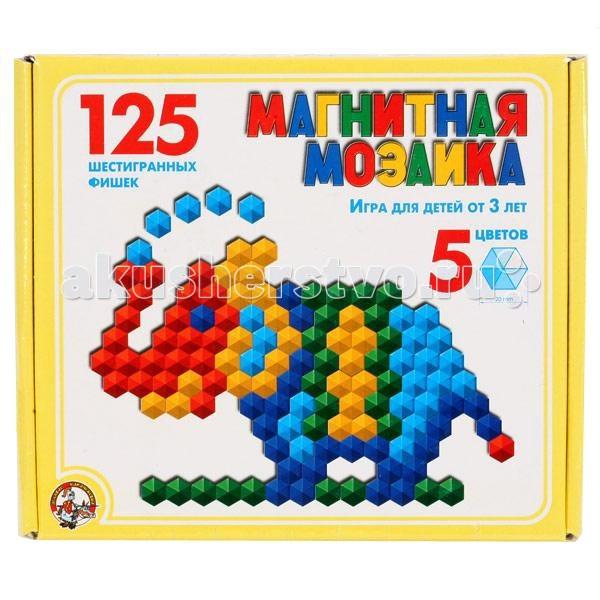 Тридевятое царство Шестигранная магнитная мозаика 125 деталей 00962  - купить со скидкой