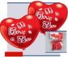 Everts 5 фигурных шариков-сердец Я люблю тебя