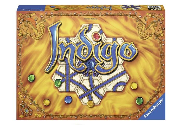 Ravensburger Настольная игра IndigoНастольная игра IndigoВ игре Индиго задача игроков собрать наиболее ценные камни. Для этого им предстоит прокладывать пути, по которым камни будут двигаться к выходам, ведущим к воротам игроков, расположенным по краям игрового поля.   Одни и те же ворота могут принадлежать только одному или двум игрокам сразу. В первом случае только один игрок получит добытый камень, а во втором оба игрока будут вознаграждены, независимо оттого, кто именно занес камень в ворота!   Игра развивает логику и общение.   Количество игроков: 2-4  Продолжительность игры: 20-30 мин   Размер коробки: 27 х 37 x 5,5 см<br>