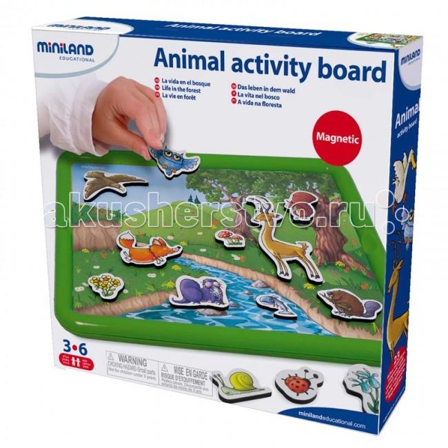 Игры для малышей Miniland Набор Магнитная доска для развития словарного запаса miniland магнитная игра портреты