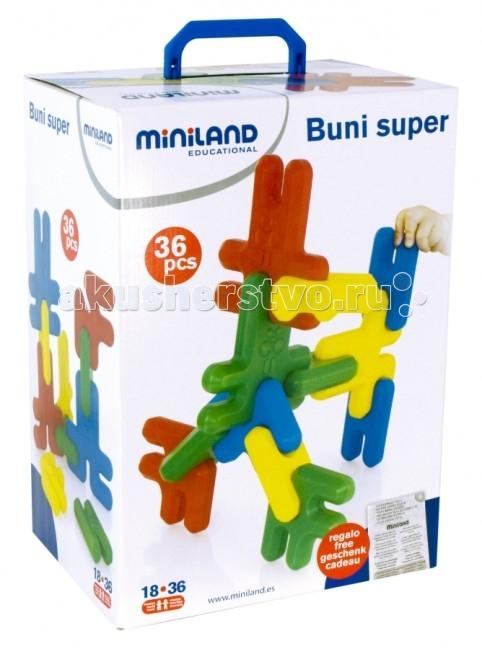 Конструктор Miniland Buni Super Кролики 36 элементов