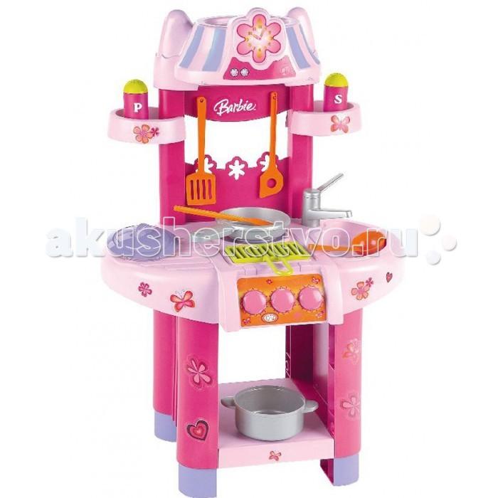Klein Кухонный центр BarbieКухонный центр BarbieСовременный кухонный центр оснащен плитой, грилем, раковиной, полочками для специй и пластмассовой посудой.  Высота кухонного центра: 76 см  История немецкой компании Theo Klein, известной во всем мире благодаря высокому качеству игрушек и их образовательной ценности, не похожа на историю других игрушечных компаний. Ведь Тео Кляйн и его жена Мария основали компанию в 1949 году как семейную фабрику по производству щеток и метел.  Началом истории успеха компании Klein стал выпуск в 1956 году метлы с яркими пластиковими щетинками, предназначенной для детей. А в 1959 году компания Klein уже впервые принимала участие в Нюрнбергской ярмарке игрушек, выставляя лишь три продукта: детскую метлу, щетку и металлическую лопатку. Они имели невероятный успех и позиционировались как игрушки, способствующие освоению детьми социальных правил и ролей в данном случае – помощников своих родителей. Вскоре компания окончательно изменила свой курс и начала заниматься производством игрушек.  Быстрая экспансия компании Theo Klein GmbH сопровождалась разработкой большого количества новых продуктов и непрерывным расширением существующего ассортимента. На сегодняшний день компания Klein, которую возглавляют сыновья Тео и Марии – Клаус-Дитер и Мартин, является крупнейшим в Европе производителем игрушек, имеющих обучающую ценность, и лидером во многих сегментах отрасли. Среди партнеров компании Theo Klein множество брендов с мировым именем: BOSCH, MIELE, BRAUN, VILEDA, WMF. Производственные мощности Theo Klein расположены в Германии, Чехии и Китае. Во всем мире бренд Klein известен высоким качеством игрушек и их образовательной ценностью.<br>