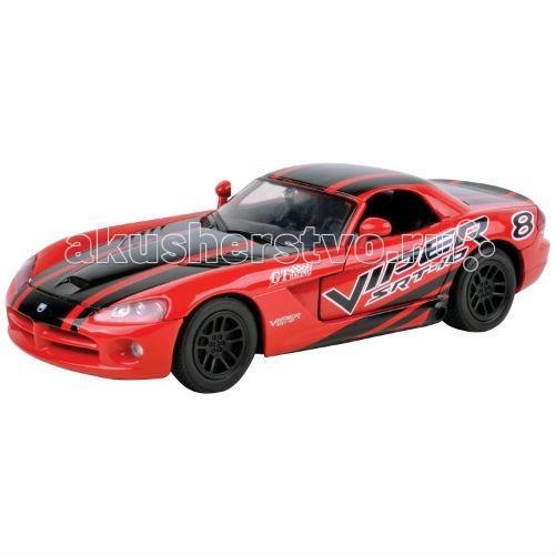 Машины MotorMax Машинка коллекционная 1:24 GT Racing  2003 Dodge Viper SRT10 модель автомобиля 1 24 motormax dodge viper srt10 racing 2003