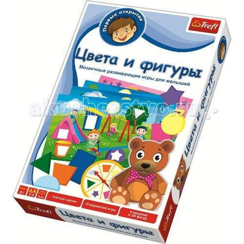 Игры для малышей Trefl Игра для малышей Первые открытия Цвета и фигуры trefl цвета и фигуры