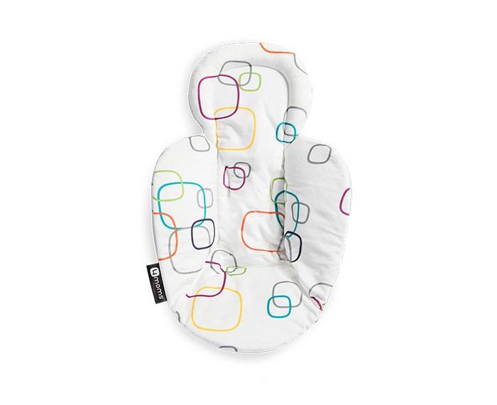 Электронные качели 4moms Вкладыш для кресла-качалки mamaRoo/rockaRooВкладыш для кресла-качалки mamaRoo/rockaRooЭлектронные качели 4moms Вкладыш для кресла-качалки mamaRoo/rockaRoo разработан специально для комфорта новорожденных малышей. Его легко закрепить на устройстве – необходимо лишь продеть ремни безопасности в специальные прорези.  Нежный и мягкий вкладыш разработан с учетом анатомии новорожденного малыша, поэтому даже самым крошечным карапузам будет уютно и комфортно в кресле-качалке МамаРу. Если вкладыш запачкался, вы можете протереть его влажной губкой, а при необходимости – постирать в машинке.  Особенности: яркий, оригинальный дизайн (чехол двухсторонний, цветной с одной стороны, серый с другой) легкое крепление  прорези для ремней безопасности  натуральные гипоаллергенные материалы изготовления защитят детскую кожу от раздражений и аллергических реакций мягкий и приятный на ощупь  форма специально продумана и идеальна для поддержки новорожденного  можно мыть  можно стирать в машинке (цвета не вымываются)<br>