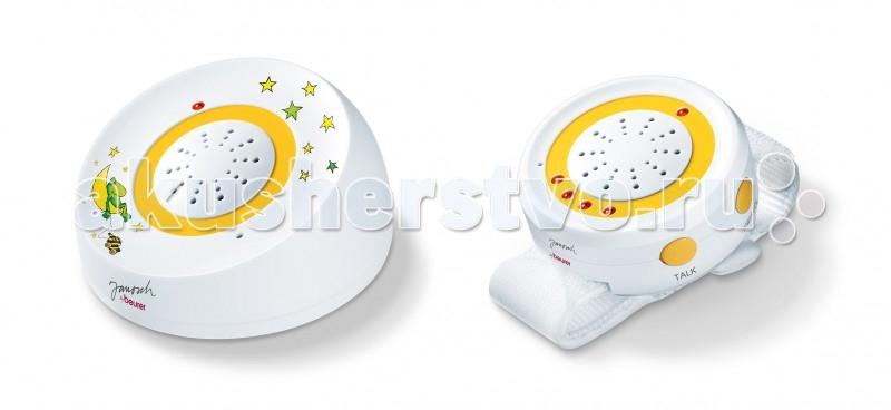Beurer Радионяня JBY92Радионяня JBY92Благодаря радионяне Beurer JBY92 Вы сможете следить за своим ребенком, находясь в другой комнате или в саду и не отвлекаясь от своих занятий.  Особенности: Технология FHSS гарантирует бесперебойное соединение, защищенное от подслушивания Двусторонняя связь - для быстрого успокоения вашего ребенка с помощью вашего голоса Поиск блоков – функция пейджинговой связи Настройка громкости на блоке для родителей и блоке для ребенка Интенсивность передачи звуков дополнительно отображается с помощью линии из светодиодов на блоке для родителей, что позволяет использовать прибор людям с нарушениями слуха Радиус действия 250 м при свободной видимости Предупреждение при превышении радиуса действия или возникновении помех связи Удобный ремешок на запястье для максимальной подвижности Бесперебойная связь и 100% защита от постороннего прослушивания, с 69 различными каналами Частота 2.4 ГГц   Производитель:Beurer GmbH , Германия<br>