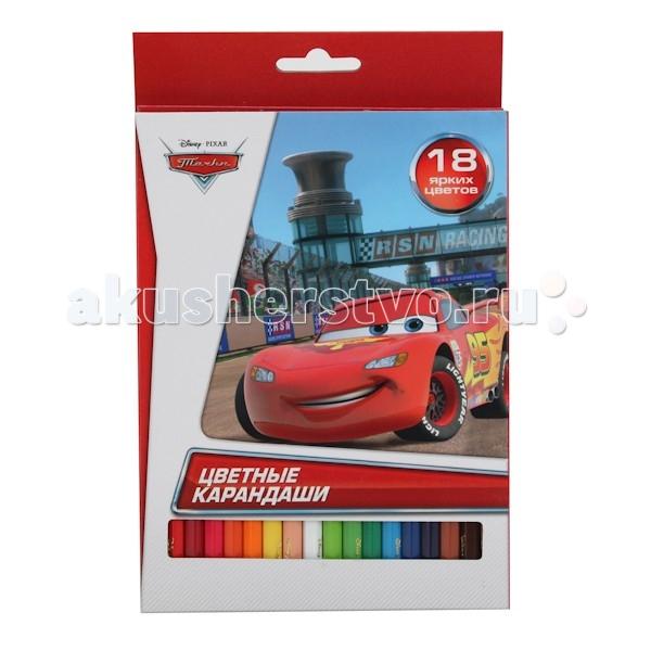 Карандаши, восковые мелки, пастель Играем вместе disney Тачки, 18 цветов играем вместе для игрушек тачки disney xdp 1798 r