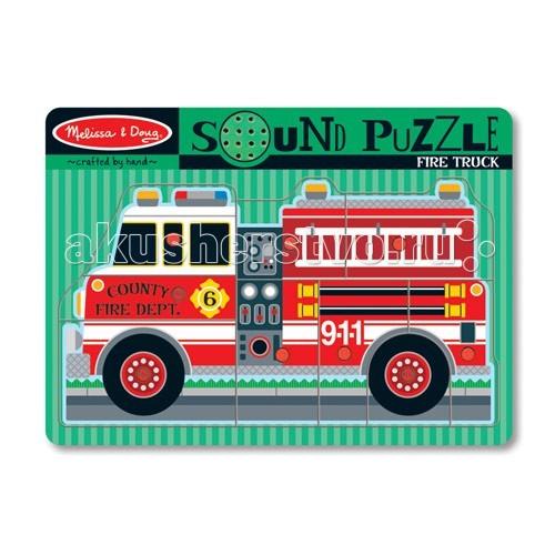 Пазлы Melissa & Doug Звуковые пазлы Пожарная машина