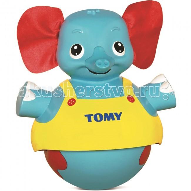 Развивающая игрушка Tomy Слоник учится ходитьСлоник учится ходитьРазвивающая игрушка Tomy Слоник учится ходить и поможет малышам научиться ползать и даже ходить! Неваляшка представлена в виде забавного слоника с яркими текстильными ушками и милой улыбкой!   Слоник имеет два режима работы, которые можно выбрать при помощи переключателя расположенного на затылке.   Режим №1 предназначен для малышей, которые еще не умеют самостоятельно ползать. Установите игрушку на полу перед ребенком, коснитесь головы слоника, послышится музыка, слоник будет двигаться туда - обратно и даже станцует для малыша.   Режим №2 предназначен для детишек, которые уже вовсю умеют самостоятельно двигаться, установите слона и так же коснитесь головы, слоник начнет убегать от малыша, тем самым стимулируя его двигаться за ним, когда малыш поймает малыша и снова коснется его головы, то слоник станцует для него танец в качестве награды.  Для детей 0.5-3 лет Высота слоника: 19 см  Для работы игрушки требуются батарейки 3 штуки типа ААА, входят в комплект.<br>