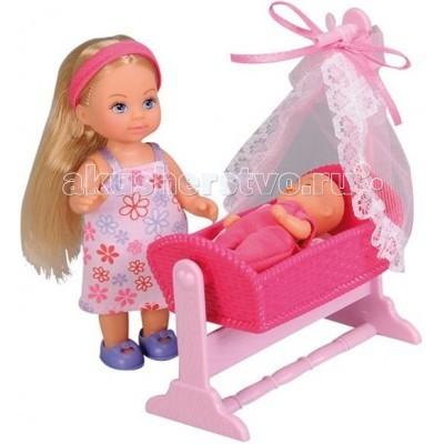 Куклы и одежда для кукол Simba Кукла Еви с пупсом в кроватке simba еви и пупс в кроватке