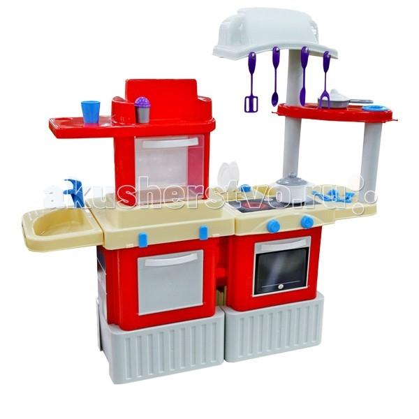 Palau Кухня Infinity 5Кухня Infinity 5Игровая кухня Infinity 5 - игровой комплекс из 2-х модулей. Размеры: высота - 100 см, ширина - 108 см, толщина - 33 см. У кухни открывается духовка и шкаф для кухонной утвари.   В комплекте: кастрюля, сковорода, тарелки, столовые приборы, солонка, стакан. Сбоку крепится раковина с краном и контейнер для кухонной посуды. Кухня-в яркой подарочной упаковке.   Эта кухня для юных хозяек приятно удивит своим широким функционалом. В ней есть все для игр и развития детей. С раннего детства необходимо учить девочек готовить, обращаться с кухонными приборами. С такой кухней у вас вырастит помощница и кулинарных дел мастер. А еще она предоставляет огромные возможности для игр и развития ребенка. Высококачественная кухня поможет сформировать хороший вкус у детей и возможно они станут настоящими поварами.  Оборудовано 2 конфорками и духовкой, в которой малыши смогут приготовить любимые блюда родителей и удивить, вовлекая в игру. Раковина с краном, где можно помыть посуду. Кухня оборудована множеством аксессуаров: кастрюля с крышкой, сковорода, столовые приборы, солонки, чашки, тарелки и стаканы. Все, чтобы Ваши любимые маленькие поварята почувствовали себя на настоящей кухне и смогли увлечься этой игрой. А Вы будете очень довольны, наблюдая за этим процессом. Поверьте - это бесценно! Давайте задания своим детям и Вы будете приятно удивлены с какой ответственностью они подходят к выполнению домашних обязанностей.   Эта игрушечная модель так близка к оригинальному аналогу. Ваш ребенок будет горд своими первыми успехами в освоении этой игрушки, а Вы будете гордиться развитием своего малыша. Поощряйте любознательность детей и Вы будете горды их успехами. Кроме игры эта кухня способна решать серьезные воспитательные задачи, развивает много хороших качеств: внимательность, ответственность и желание помогать, способность думать, считать, желание учиться и развиваться. Оцените это сами!<br>