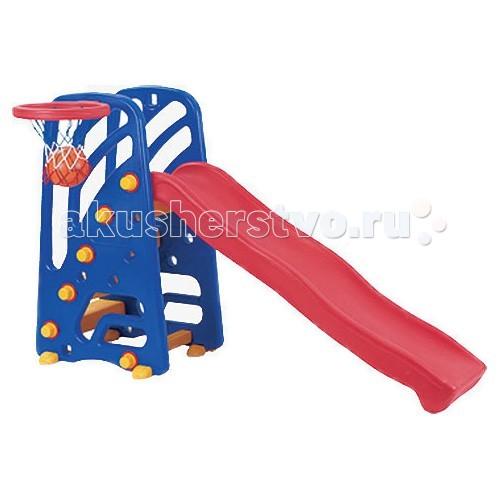 Горка Pilsan с баскетбольным кольцом 06 142с баскетбольным кольцом 06 142Горка Pilsan с баскетбольным кольцом 06 142 - красочная конструкция, выполненная из качественных и безопасных материалов, которая позволит не только кататься с горки, но и устроить вместе с друзьями турниры по баскетболу.  Характеристики: рекомендуется для детей от 1 до 5 лет сделана из очень прочного пластика легка и удобна в сборке интересный дизайн, который обязательно оценит ребенок она станет прекрасным украшением сада, загородного участка или двора у дома горка станет излюбленным местом игр Вашего ребенка и его друзей она безопасна, так как рассчитана на маленьких детей с учетом особенностей возраста горка – длина 153 см сама горка не высокая и очень устойчивая.<br>