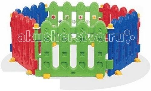 Pilsan Ограждение PlayОграждение PlayPilsan Ограждение Play - состоит из шести разноцветных секций.   Конструкция Игрового манежа простая, складывается за очень короткое время. Ограждение можно использовать в доме из 4-6 секций или в теплое время года на улице. Прозрачная изгородь очень удобна для присмотра за малышом и в то же время позволяет ему познавать окружающий мир.  Размеры (ДхШхВ): 155 х 147 х 56 см  Ширина одной секции: 80см   Вес 13,9 кг<br>