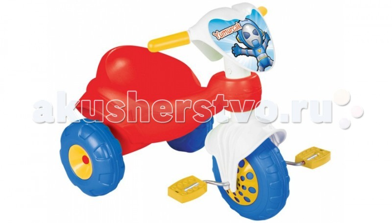 Велосипед трехколесный Pilsan YumurcakYumurcakВелосипед трехколесный Pilsan Yumurcak в коробке с педалями на переднем колесе. Глубокое сиденье создает необходимые уровень комфорта ребенка и не позволяет ему случайно упасть. На руле находится заменяемая декоративная панель. Максимальный вес ребенка не должен превышать 50 кг.  Велосипед лучше всего подходит для коротких прогулок с ребенком на детской площадке и во дворе дома.  Легкий велосипед Pilsan Yumurcak Bike предназначен для детей от 2 до 4 лет.  Способствует развитию опорно двигательного аппарата ребенка, укреплению суставов и координации в пространстве.<br>