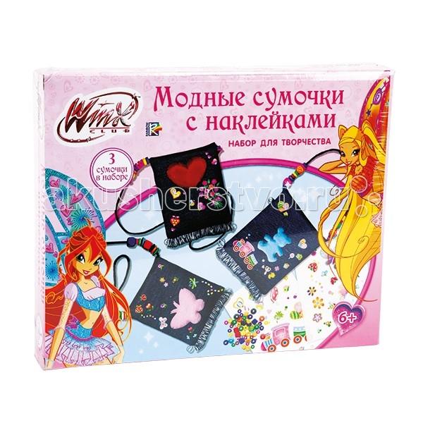 Наборы для творчества Multiart Winx Модные сумочки с наклейками сумочки