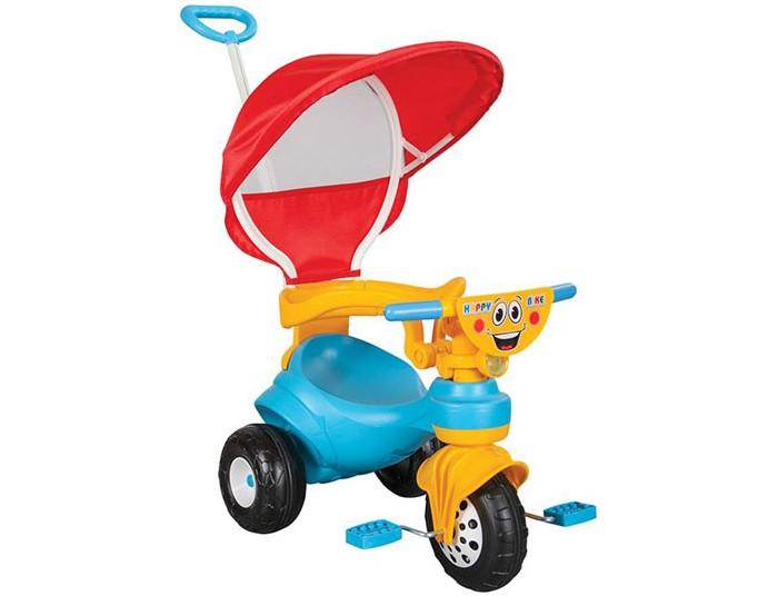 Велосипед трехколесный Pilsan HappyHappyВелосипед трехколесный Pilsan Happy c ручкой - станет прекрасным подарком для детей. Он очень удобный, яркий и обязательно понравится вашему малышу.   Широкие колеса обеспечивают устойчивость велосипеда.  Разъемный страховочный обод.  Игрушка выполнена из прочного экологически безопасного пластика с соблюдением самых высоких стандартов безопасности.  Размеры: (шхдхв) 39х99х88 см.  Среди огромного количества детских игрушек выгодно отличается продукция турецкой компании Pilsan, которая является лидером в производстве крупногабаритных игрушек для детей разных возрастов. Продукцию компании Pilsan характеризует высокое качество, недаром лозунг компании звучит как «Quality in Toys» - «Качество в игрушках». Продуманный дизайн, тестирование, обеспечение контроля на всех стадиях производства подтверждает слоган компании. Все игрушки, производимые компанией Pilsan, отличаются высоким качеством, безопасны, не содержат вредных материалов и красителей, для производства используется экологически чистый пластик.<br>