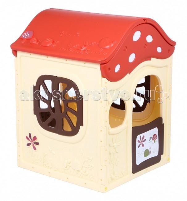 BabyOne Игровой домик Ching-Ching Грибок-теремок ОТ-14Игровой домик Ching-Ching Грибок-теремок ОТ-14Игровой домик BabyOne ОТ-14 - это сказочный дом для вашего малыша. В нем он сможет развиваться, уединяться с игрушками или друзьями, разыгрывать спектакли. Домик, о котором мечтают все дети, он оригинальный и достаточно просторный для того, чтобы пригласить в гости друзей. Малыш безусловно оценит возможность иметь свое собственное очаровательное жилище. Произведен с соблюдением европейского стандарта качества. Стимулирует малыша к активным действиям и движению, развивает воображение. Украсит любую дачу или детскую комнату и станет любимым местом для игр Вашего ребенка.  Особенности: предназначен для детей от 2 до 7 лет соответствует европейским стандартам безопасности оригинальный яркий дизайн очень уютный идеально подходит для игры на даче, на улице, дома конструкция очень устойчивая, прочная, не имеет острых углов легко собирается и разбирается легко содержать в чистоте, так как может подвергаться влажной обработке  Материал - высокопрочный морозостойкий пластик, экологически безопасный и устойчивый к ультрафиолетовому излучению.  Общие размеры: (дхшхв) 120х120х130 см.<br>