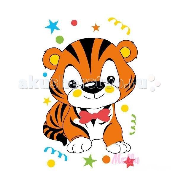 Детская открытка тигр 12