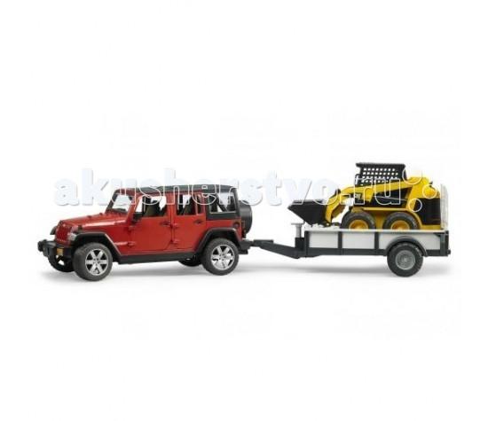 Bruder Внедорожник Jeep Wrangler Unlimited Rubicon 02-925Внедорожник Jeep Wrangler Unlimited Rubicon 02-925Bruder Внедорожник Jeep Wrangler Unlimited Rubicon е только визуально привлекательный вездеход, но также имеет множество функций, которые имеют неограниченные возможности. Капот открывается, машина управляется рулем, двери открываются, прицеп с погрузчиком в комплекте и многое другое! Идеально подходят фигурки брудер. К передней части можно прикрепить аксессуары bruder. С такой игрушкой Ваш ребенок будет играть с большим удовольствием!  Особенности: Стекла автомобиля из прозрачного пластика Имеются фары Установлены стандартные разъемы для крепления аксессуаров Передние и задние двери открываются На крыше имеется съемный люк Управляется рулем Можно посадить фигурки Капот открывается Колеса выполнены в стиле настоящего внедорожника В комплекте идет прицеп и погрузчик для прицепа Идеально подходит для детей от 3 лет и старше В Выполнен в масштабе 1 к 16 от реальной модели  Размеры: 32.9 х 14.4 х 14.2 см Выполнен из пищевой пластмассы ABS<br>