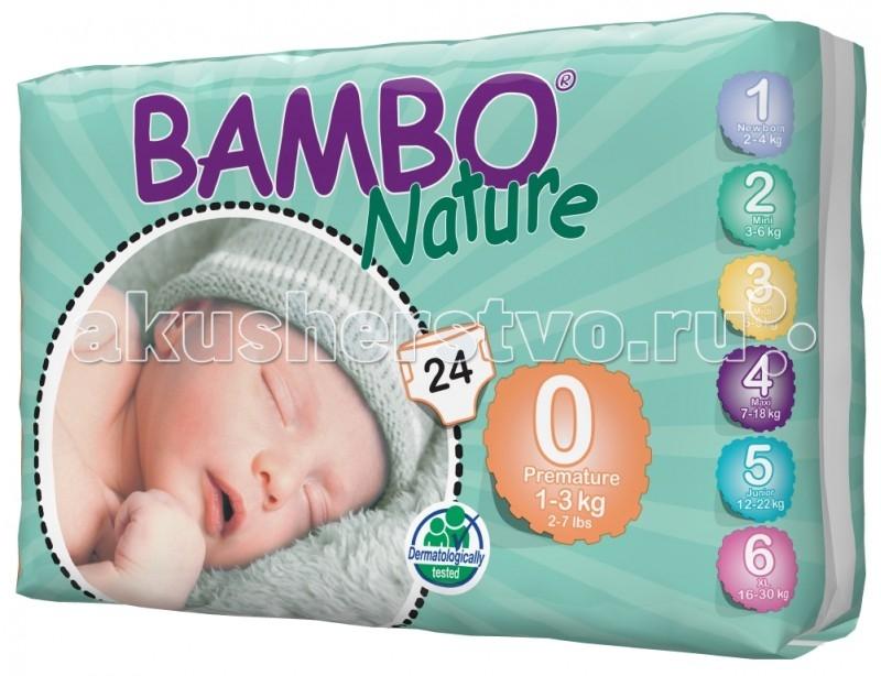 Подгузники Bambo Nature Подгузники Premature (1-3 кг) 24 шт.