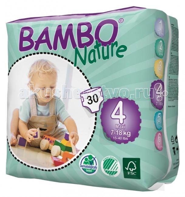 Подгузники Bambo Nature Подгузники Max (7-18 кг) 30 шт.