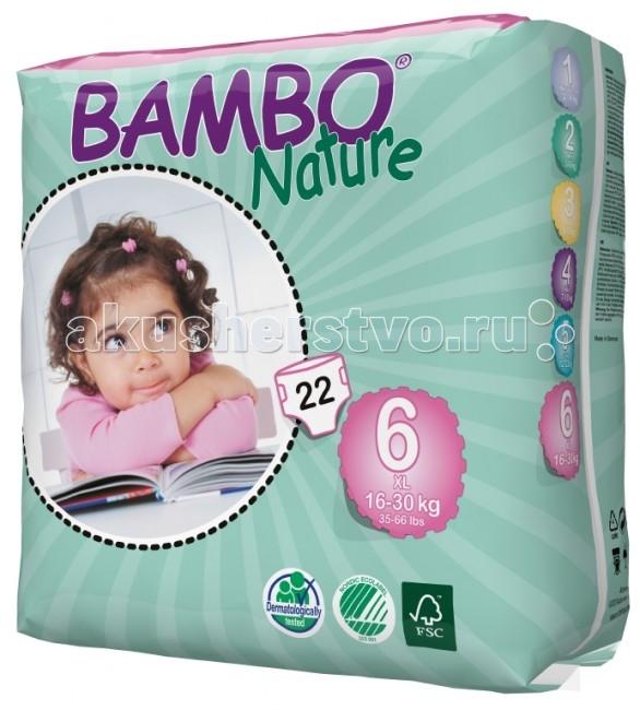 Подгузники Bambo Nature Подгузники XL (16-30 кг) 22 шт.