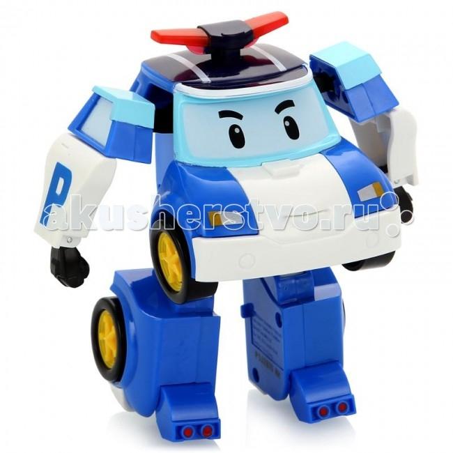 Робокар Поли (Robocar Poli) Робот Поли на радиоуправлении 31 смРобот Поли на радиоуправлении 31 смRobocar Poli Робот Поли на радиоуправлении – очень красивая полицейская машинка, которая легко перевоплощается в робота. Двигается вперед и назад, влево и вправо. Также с пульта активируются мигалки (свет) и звук сирены. Управляется в форме робота.  Особенности: Руки и ноги подвижны. И это еще не все! Шагающий Поли может танцевать! А еще ты можешь сделать запись с пульта управления и робот воспроизведет запись при движении! Мальчикам нравятся роботы на р/у, они любят воспроизводить фрагменты из любимого мультфильма или придумывать свои собственные сюжеты. При движении фары игрушки светятся, и работает его мигалка. Радиоуправляемые игрушки – это украшение любого детского автопарка, ведь с ними можно придумать множество интересных игр. Ребенок может катать игрушку как обычную машинку или, взяв в руки пульт управления, трансформировать ее в робота и шагать по придуманному городу, наводя в нем порядок. Во время перевоплощения, издается звук, машинка от Robocar POLI за секунды становится высоким полицейским с грозным лицом на лобовом стекле. Во время игры у ребенка развивается воображение и образное мышление, его фантазия помогает создавать новые сюжеты игры, а во время управления пультом, развивается моторика пальцев. Чтобы робот выполнял все свои функции, необходимо дополнительно приобрести 3 ААА батарейки. Продукция сертифицирована, экологически безопасна для ребенка, использованные красители не токсичны и гипоаллергенны.<br>