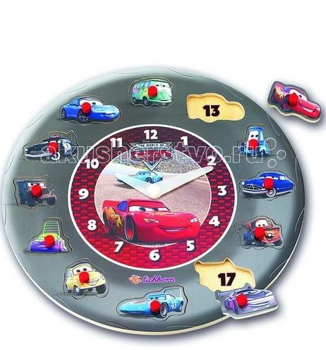 Развивающие игрушки Eichhorn Обучающие часы Тачки eichhorn eichhorn игра на запоминание тачки