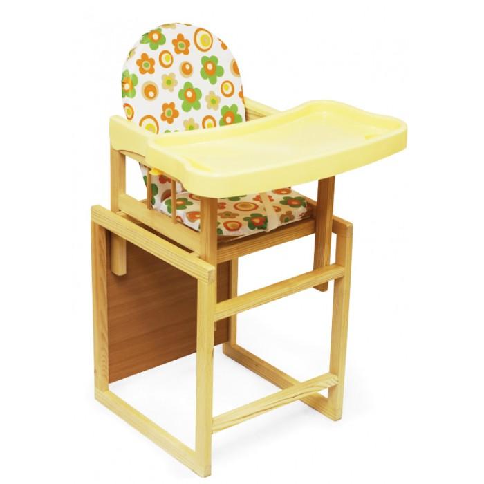 Стульчик для кормления Globex Мишутка с пластиковым столомМишутка с пластиковым столомСтульчик для кормления Globex Мишутка с пластиковым столом   Детский комбинированный стул-стол Мишутка предназначен для детей в возрасте от 6 месяцев до 3 лет. Стульчик Мишутка можно использовать как низкий стул со столиком, так и как высокий стульчик для кормления, для этого установите маленький стульчик в столик.  Особенности:  Стул выполнен из натурального дерева.  Поднос имеет высокие борта, легко снимается одной рукой и имеет три положения.  Уровень подноса соответствует уровню стандартного кухонного стола.  Упоры от заднего опрокидывания обеспечивают безопасность ребенку при резком отклонении назад.  Рекомендации по эксплуатации:  Эксплуатировать при температуре от +3 до +40 градусов.  Загрязненные детали изделия рекомендуется протирать мягкой, слегка влажной салфеткой.  Применение растворителей не допускается!  Никогда не ставьте ребенка ножками на сиденье.  Обязательно устанавливайте стул-стол на ровной, устойчивой поверхности. Качание не допускается!  Не оставляйте ребенка без присмотра при высоком положении стула.  Периодически проверяйте крепление винтов.<br>
