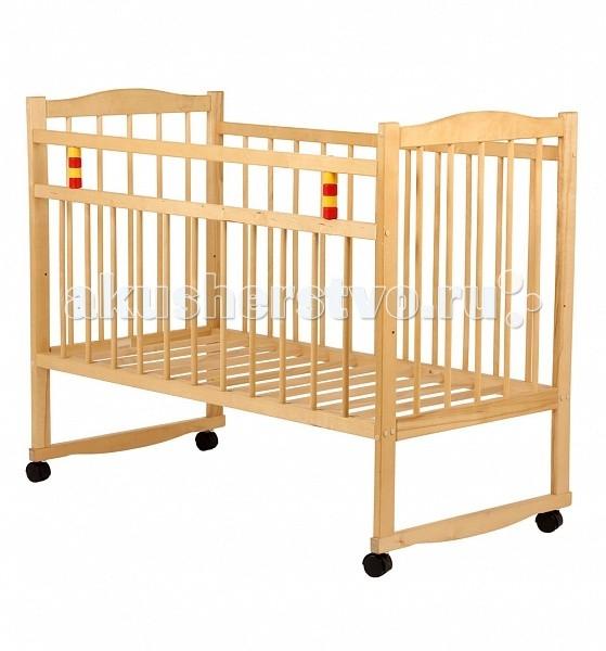 Детская кроватка Промтекс Колесо-качалкаКолесо-качалкаДетская кроватка Промтекс колесо-качалка выполнена из массива березы и располагает стандартным спальным местом - 120х60 см.   Ее экологичность, а также фиксируемые колеса позволят вам не переживать о безопасности малыша.  Планка для укачивания поможет, приложив минимум усилий, уложить спать младенца таким способом, который ему больше всего нравится - укачать его.  Кровать Промтекс колесо-качалка предназначена для детей с рождения. Классический дизайн подходит для любой комнаты.   Основные особенности:  размер спального места 120х60 см.  два уровня ложа;  подвижный борт;  механизм укачивания - качалка;  4 самоориентирующихся колеса не фиксируются;  откидная планка.<br>