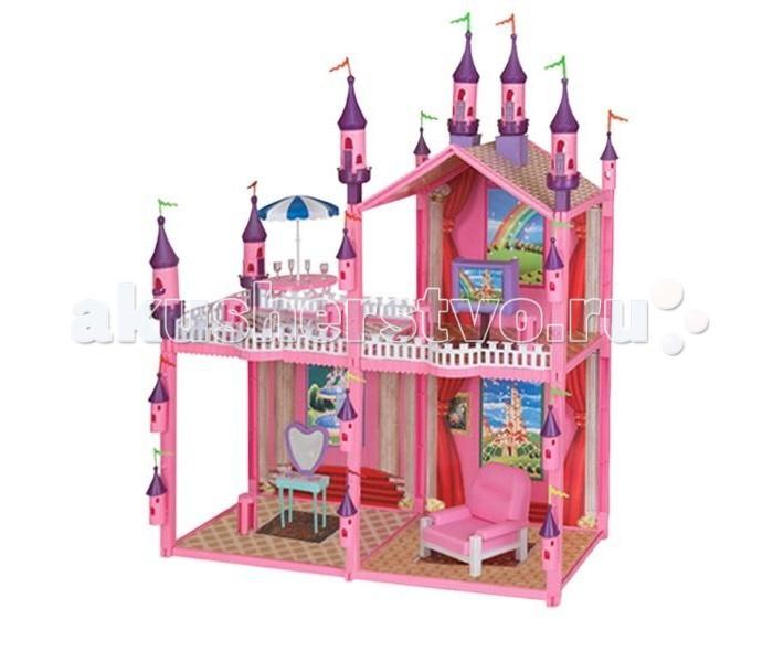 1 Toy Кукольный домик Красотка (102 детали 4 комнаты)Кукольный домик Красотка (102 детали 4 комнаты)Дома для кукол - одна из самых любимых игрушек у девочек!   Кукольные домики обладают широкими возможностям моделирования различных ситуаций кукольной жизни в игре.  У домиков 1 Toy Красотка отсутствует передняя стенка, что позволяет с лёгкостью расставлять мебель и мелкие игрушки внутри.   модель очень проста в сборке состоит из четырёх комнат  рассчитана на кукол размером 29 см<br>