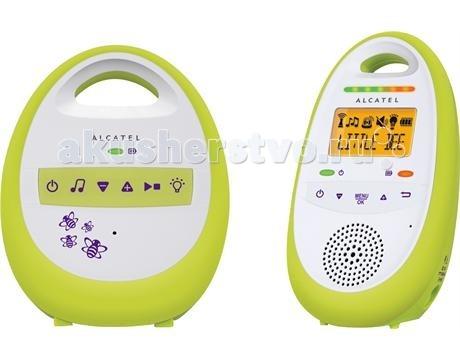Alcatel Радионяня Baby Link 150Радионяня Baby Link 150С радионяней Alcatel Baby Link 150 – спокойствие маме обеспечено Радионяня Alcatel Baby Link 150 способна поддерживать работу двух родительских блоков, что позволяет обоим родителя наблюдать за малышом. Прибор оснащен автоматическим выбором канала. Имеет пять уровней звука. Прибор оснащен индикатором зарядка аккумулятора. Без подзарядки прибор может работать до 14 часов.  Автоматический выбор канала Двустороняя связь LCD дисплей с подсветкой Функция проигрывания мелодий Количество мелодий: 5 Регулировка громкости: 5 режимов Микрофон Температурный датчик Ночник: светодиодная подсветка Радиус действия на открытом пространстве: 300 м Дальность действия в помещении: 50 м Технология DECT Автоопределение звука голоса (VOX) Пятиуровневый индикатор звука (2 красных и 3 зелёных светодиода) Поддержка до 2 родительских блоков Предупреждение о низком заряде аккумуляторов и выходе из зоны связи между блоками Питание приемника: 2xAAA NiMH перезаряжаемые Время работы: до 14 часов Детский блок работает от сети  Родительский блок работает от сети и от батареек<br>