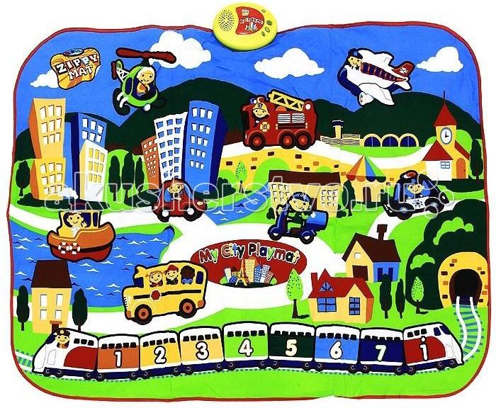 Игровой коврик Знаток Звуковой коврик Мой любимый городЗвуковой коврик Мой любимый городИнтерактивная игра Знаток SLW9812 Звуковой коврик мой любимый город. Звуковой коврик Знаток Мой любимый город - это великолепная детская игровая площадка с изображением городских пейзажей. Красочные рисунки сразу же привлекут внимание ребенка. Данная игрушка разработана для детей в возрасте от трех лет. Дети легко обучаются обращению с ним. Данное изделие призвано не только доставить детям удовольствие, но также способствует их развитию.  Особенности: Сенсорные клавиши и изображения 8 музыкальных кнопок Световое сопровождение 9 звуковых эффектов Коврик сделан из ткани Коврик легко складывается и удобен при переноске и хранении Автоматическое выключение питания. Звуковой коврик Мой любимый город - это звуковой коврик, способный воспроизводить реалистичные звуки, соответствующие изображениям. Звуки сопровождаются свечением лампочки на консоли. Цифры, написанные на вагончиках, соответствуют нотам: 1 - До, 2 - Ре, 3 - Ми, 4 - Фа, 5 - Соль, 6 - Ля, 7 - Си, i До, из другой октавы. Можно воспроизвести разные мелодии, например, Жили у бабуси два весёлых гуся - 4321/55/4321/55//4664/3553/2342/11 или Чижик-пыжик - 3131/432/ 55567/111.  Сверху к коврику прикреплен электронный блок управления, на котором находится кнопка включения и выключения, динамик, через который раздаётся все звуки. Электронный блок управления работает от 3 батареек типа АА (пальчиковые) входят в комплект поставки. Верхний слой музыкального коврика сделан из ткани, что делает его поверхность не скользкой и приятной на ощупь, поэтому ребенку можно даже ходить по коврику босыми ножками.   В комплект поставки входит: Звуковой коврик Мой любимый город Батарейки типа АА - 3шт в электронный блок управления Инструкция.<br>