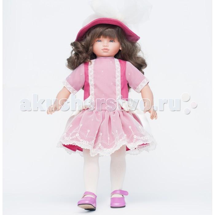 ASI Кукла Эли 60 см 312100Кукла Эли 60 см 312100Кукла ASI Эли 60 см 312100, выполнена из винила с мягконабивным телом. С ней очень удобно играть, сажать ее на стульчик, катать в коляске.  Красивая кукла Эли вызовет настоящий трепет у девочки любого возраста.  Эта куколка пришла к нам из сказочной страны. На ней шикарное шелковое платье розового цвета и шляпка, отделанные настоящим французским кружевом и атласом.  Рост куклы 60 см. Сделана из винила, тело мягконабивное. Волосы длинные, волнистые, темные.  Кукла сделана очень качественно.   Ограниченная серия.  Особенности: Пупсик ASI сделан очень качественно.  Без запаха.  Производство Испания. Используется безопасный твердый винил.  Видна прорисовка мельчайших подробностей тела, рук и ног.<br>