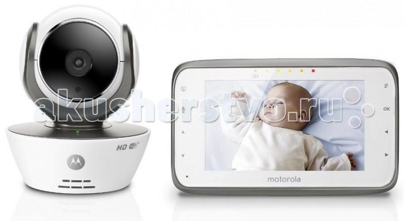 Motorola Видеоняня MBP854 ConnectВидеоняня MBP854 ConnectВидеоняня Motorola MBP854Connect дает Вам возможность использовать привычный родительский блок, обладающий великолепным цветным экраном 4,3 дюйма, и одновременно получать доступ к Вашей видеоняне удаленно через сеть Интернет.  Особенности: При использовании удаленного доступа Вы имеете возможность просматривать потоковое видео в формате HD 720p, сохранять фото и видеозаписи, получать уведомления и фотографии при срабатывании датчиков звука и движения и многое-многое другое с помощью онлайн-портала Hubble Connected, а также бесплатных приложений для iOS, Android или онлайн-портала Hubble Connected из любого браузера. Видеоняня Motorola MBP854 Connect обладает полным набором функций, присущих современной видеоняне: большой радиус действия - до 300 метров, инфракрасная ночная подсветка, позволяющая получать изображение на расстоянии до 5 метров в полной темноте, возможность удаленного управления углом наклона и поворота видеокамеры с родительского блока, либо через Интернет, полифонические колыбельные, обратная аудио-связь и т. д.  Родительский блок видеоняни Motorola MBP854 Connect с экраном 4,3 дюйма может работать либо от постоянного источника питания 220В, либо от встроенных Li-Ion аккумуляторов емкостью 1880mAH. Кроме того видеоняня Motorola MBP854 Connect – это первая видеоняня от компании Motorola, которая имеет слот для карт памяти SD, что позволит Вам сохранять видеозаписи в формате AVI и просматривать их в дальнейшем на ПК или других устройствах. Впервые! Два режима передачи данных: 2,4GHz и Wi-Fi! Удаленный доступ через Интернет с помощью ПК, смартфона или планшета Бесплатные приложения для iOS и Android Яркий цветной экран 4,3 дюйма Увеличенный радиус действия - до 300 метров Подключение до 4 независимых камер с возможностью их одновременного просмотра Ночная подсветка - до 5 метров Потоковое H.264 720p HD видео Удаленное управление наклоном и поворотом камеры Встроенные аккумуляторы в приемнике Слот 