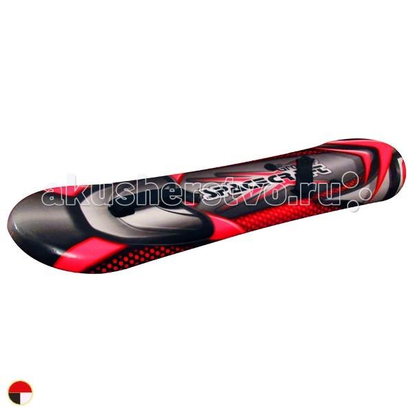 Ледянка 1 Toy сноуборд Groover с креплениями для ногсноуборд Groover с креплениями для ногЛедянка 1 toy сноуборд Groover с креплениями для ног, 109 см - для любителей зимних спортивных развлечений.  Ледянка-сноуборд с жёстким основанием, на которой можно кататься с укатанных снежных склонов или ледяных горок. Удобен для начинающих райдеров - если пока не получается кататься стоя, то можно кататься сидя. А после того, как малыш научится держать равновесие и кататься стоя, он сможет легче и быстрее освоить настоящую доску.  Для катания не требуется специальных ботинок - облегчённые крепления регулируются под размер обуви с помощью ремней на липучке. Возможна перестановка креплений под правую и левую ногу.<br>