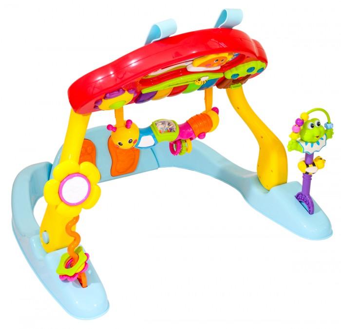 Игровой центр Huile Toys Музыкальный центрМузыкальный центрИгровой центр Huile Toys Музыкальный центр трансформируется в передвижной мобиль или в съемную игровую панель на детскую кроватку.  Особенности: Играть малыш может лежа на спине или на животе. В комплекте есть съемные погремушки, с которыми можно играть отдельно, зеркальце. На панели движутся различные персонажи, мигают лампочки, клавиши, нажатие на кнопки сопровождаются различными мелодиями и звуками.  Игрушка способствует развитию моторики, мышления, изучению цветов и форм, восприятию звуков. Для работы игрушки потребуются 3 батарейки АА (в комплект не входят). Выполнена из экологически чистых и безопасных материалов, упакована в нарядную коробку.<br>