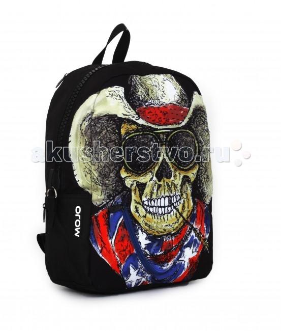 Mojo Pax Рюкзак Cowboy SkullРюкзак Cowboy SkullРюкзак Cowboy Skull Mojo Pax  Смелость, независимость и чувство юмора - вот что ценит современный городской «Одинокий Рейнджер»!  Даже рюкзак, в котором он носит все нужное, притягивает взгляды и вызывает восхищенную улыбку! Этот улыбающийся череп в ковбойской шляпе, солнечных очках и с колоском в зубах такой обаятельный и жизнерадостный, что даже при желании его не испугаешься.   Зато в темноте принт на рюкзаке меняется до неузнаваемости. Фосфоресцирующим светом начинает светиться только череп или надпись на стеклах его очков. Эту сумку уж точно запомнят все, кто ее увидит!  Материал - полиэстер/люминесцентная краска  Размер - 43х30х16 см  MOJO – это бьющая через край энергия молодости, это современный, яркий, смелый стиль для тех, кто не привык сливаться с фоном. Бренд предлагает большой выбор рюкзаков, чехлов для планшетов и ноутбуков, кошельков, наушников и других аксессуаров. Подростки и молодежь любят продукцию MOJO за поистине уникальное сочетание качества, эргономичности, удобства и стопроцентно запоминающейся «внешности». Яркие, смелые, привлекающие к себе внимание принты, современные ткани, высококлассная фурнитура, безупречное качество пошива – эти вещи будут с вами – и будут на пике популярности - ни один год! Качество MOJO давно по достоинству оценили на Западе и в Европе – бренд любят и школьники, и студенты, и взрослые любители ярких вещей и яркой жизни.<br>