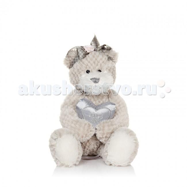 Мягкие игрушки Maxitoys Luxury Мишка Белла с сердечком 23 см