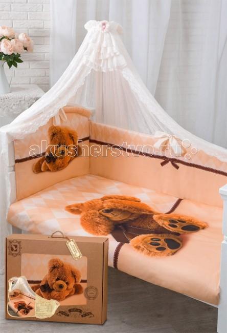 Комплект в кроватку Золотой Гусь Я спрятался (7 предметов)Я спрятался (7 предметов)Новая эксклюзивная коллекция комплектов в кроватку с изысканными и оригинальными рисунками в Винтажном стиле, выполненные методом цифровой печати. Сатин, из которого сшиты эти комплекты, обладает многими замечательными качествами. Он мягкий, шелковистый и прочный, а благородный блеск ткани придаёт выразительность и очарование новым дизайнам. Комплекты упакованы в фирменную коробку.  Состав комплекта (7 предметов): Бампер (4 части) на завязках на весь периметр кровати 360х40, чехлы съемные на молнии  Балдахин (вуаль) 160х450 см Одеяло 108х140 см Подушка 40х60 см Пододеяльник 110х145 см на молнии Наволочка 40х60 Простынь 110х150 на резинке  Материал 100% хлопок, сатин Наполнитель - холофан  Рекомендован для кроватки размером 120 х 60 см .<br>