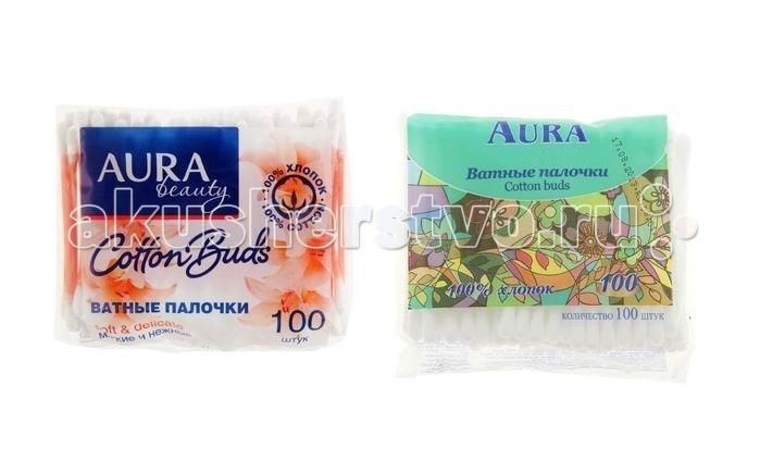 Уход за малышом Aura Ватные палочки Cotton Buds 100 шт. (пакет)