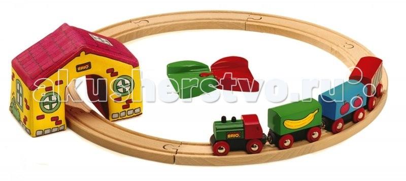 Brio Моя первая Железная дорога 15 элементовМоя первая Железная дорога 15 элементовМоя первая железная дорога, 15 элементов.  Игрушка детская железная дорога всегда радует детей и родителей. А для коллекционеров модели железных дорог не просто игрушки, а уникальные экспонаты для коллекции. Также если вы не знаете, что подарить ребёнку на день рождения, то всегда можете ему подарить модель железной дороги. Железную дорогу можно подарить и взрослому человеку и она станет как-бы отдушиной, обратит время вспять и взрослый дядька станет управлять поездом, радуясь как ребёнок.  Детская железная дорога соберет вечером вместе всю семью: так приятно проводить время среди близких и любимых, тем более за такой интересной игрой.<br>