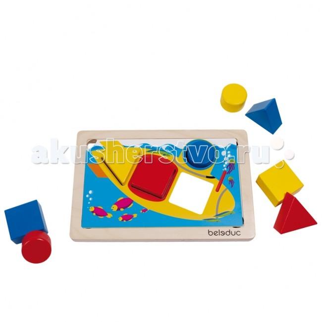 Деревянная игрушка Beleduc Развивающая игра ГеоСортер 21010