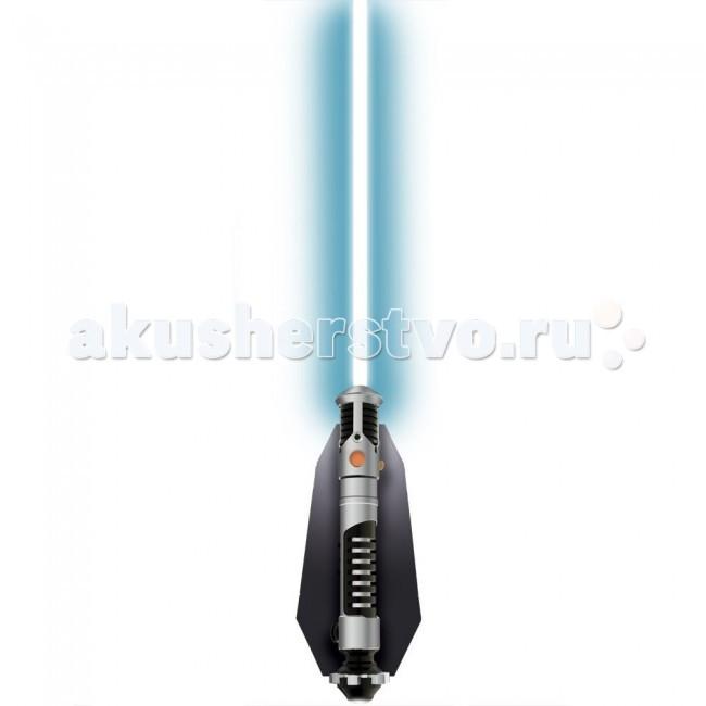 Светильник Star Wars Science Звездные Войны Световой меч Оби Ван КенобиScience Звездные Войны Световой меч Оби Ван КенобиСветильник Star Wars Science Звездные Войны Световой меч Оби Ван Кеноби. Светильник похож на меч Оби-Вана и размером, и дизайном.   В коробке находится все, чтобы с легкостью собрать его: сам клинок, электронная начинка, детали рукояти, крепление на стену, а также пульт управления светильником.  Включать и выключать светильник можно как нажимая кнопку непосредственно на нем самом, так и с помощью пульта на ИК управлении. Включенный, он будет гореть спокойным синим светом, совсем как меч Оби-Вана в фильмах. Более того, при включении вы услышите те самые знаменитые звуки включения кино-мечей, которые невозможно не узнать и нельзя ни с чем перепутать.  Для работы требуются батарейки 5 x AAA / LR03 1.5V (в комплект не входят).<br>