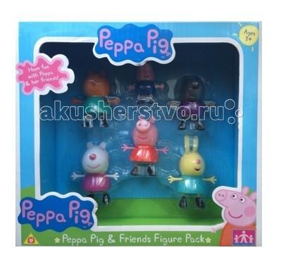Игровые наборы Свинка Пеппа (Peppa Pig) Игровой набор Пеппа и друзья аппликация пальчиковый театр свинка пеппа пеппа кэнди и сьюзи peppa pig