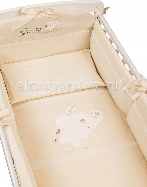 Комплект в кроватку Picci Флиппер (5 предметов)Флиппер (5 предметов)Комплект в кроватку Picci Флиппер - постельное белье для Вашего малыша, выполнено по современным технологиям с использованием натуральных материалов, что характеризует качество продукции Picci. Постельное белье создаст уют Вашему малышу и подарят ему спокойные и приятные сны.  Основные характеристики: изысканный дизайн элитная коллекция комплект отличается высоким качеством пошива бельё полностью безопасно и гипоаллергенно благодаря устойчивым красителям, белье сохраняет насыщенность красок и безупречный вид после стирки материалы не раздражают нежное тельце ребенка, и не доставляют ему неудобств удобство и простота в использовании бампер предохраняет от ушибов о стенку кроватки качество материала обеспечивает лёгкость стирки и долговечность  Материалы: состав - 100% хлопок одеяло-покрывало с синтепоновым наполнением изготовлен из материала самого высшего качества и только из натуральных тканей  В комплекте: наволочка, пододеяльник, простынка на резинки, одеяло с пододеяльником, двойной бампер, который можно ставить как на всю кровать так и на половинку.<br>