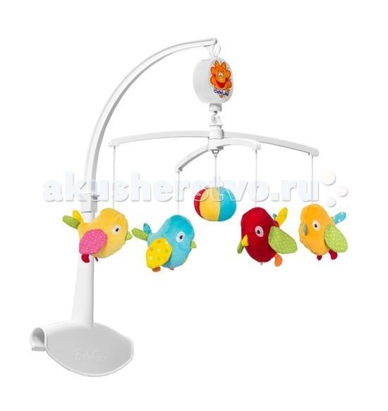 Мобиль BabyOno ПтичкиПтичкиМузыкальная карусель Птички поможет малышу успокоиться и настроиться на сон. Персонажи плавно вращаются по кругу в сопровождении мягкой спокойной музыки, привлекая внимания малыша и успокаивая его. Карусель выполнена из безопасных для здоровья малыша материалов.  Особенности: легко и надежно крепится к кровати с помощью большого зажима при заведении механизма звучит мягкая, успокаивающая мелодия  поможет малышу настроиться на сон, успокоит его развивает внимание развивает слуховое и зрительное восприятие ребенка стимулирует двигательную активность малыша<br>