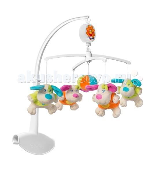 Мобиль BabyOno Цветные собачкиЦветные собачкиМузыкальная карусель Цветные Собачки поможет малышу успокоиться и настроиться на сон. Персонажи плавно вращаются по кругу в сопровождении мягкой спокойной музыки, привлекая внимания малыша и успокаивая его. Карусель выполнена из безопасных для здоровья малыша материалов.  Особенности: легко и надежно крепится к кровати с помощью большого зажима при заведении механизма звучит мягкая, успокаивающая мелодия  поможет малышу настроиться на сон, успокоит его развивает внимание развивает слуховое и зрительное восприятие ребенка стимулирует двигательную активность малыша<br>