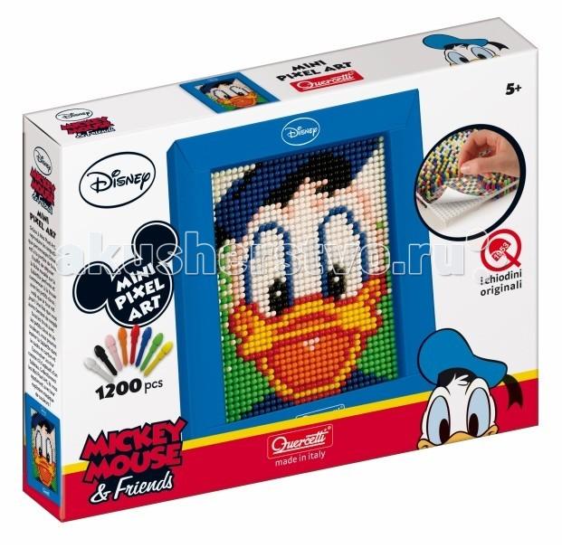 Мозаика Quercetti Пиксельная мозаика серии Мини Дональд из 1200 элементов quercetti настольная игра распредели цвета мини